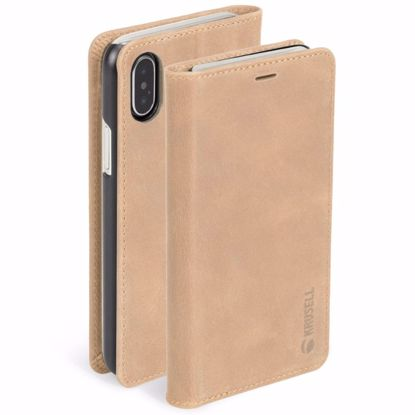 Picture of Krusell Krusell Sunne 4 Card Folio Case for Apple iPhone XS/X Max in Nude
